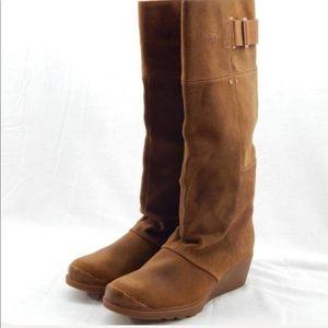 Sorel Camel Wedge Boot Size 8.5